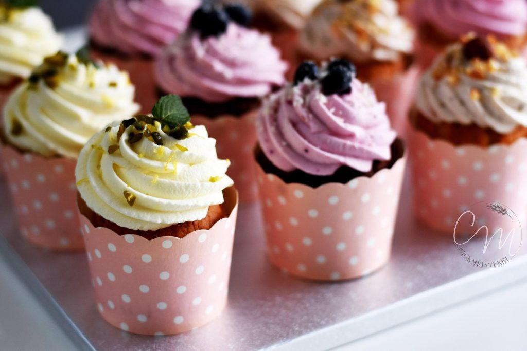 Cup Cakes in unterschiedlichen Sorten