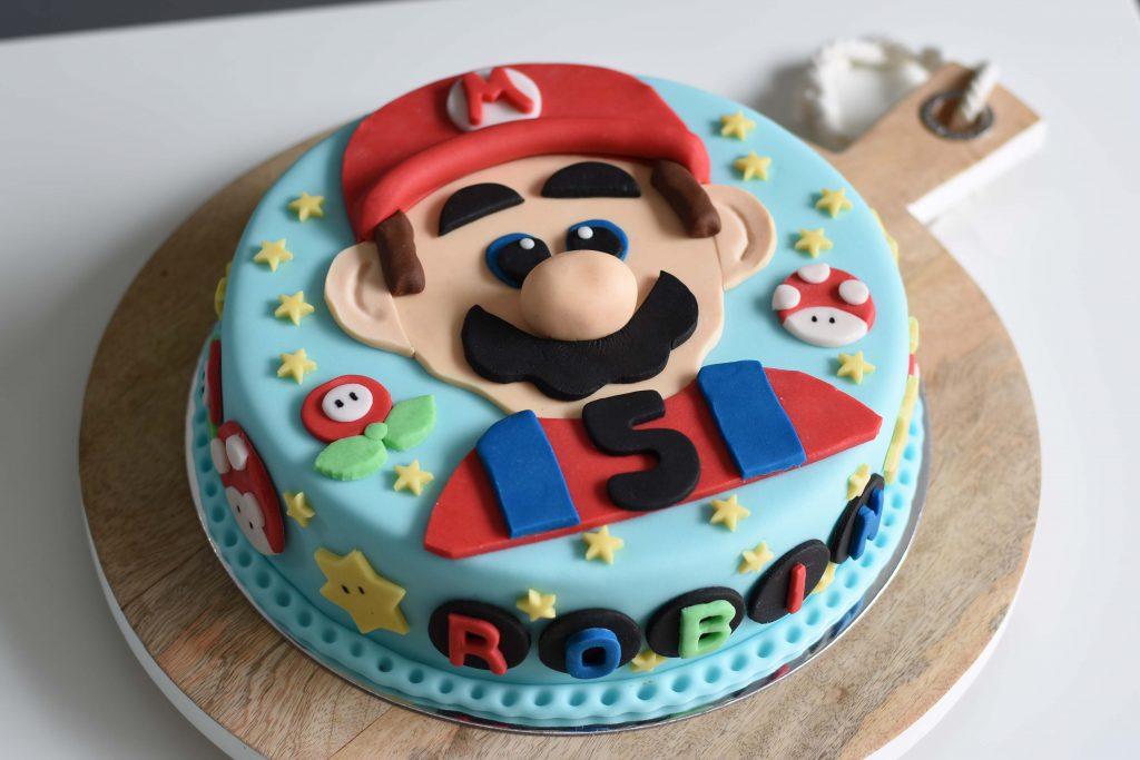 Super Mario Torte für einen Kinder-Geburtstag
